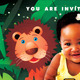 Kid's Birthday Invitation - Lions, Tigers & Bears - GraphicRiver Item for Sale