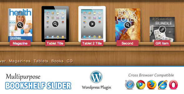 Multipurpose Bookshelf Slider - Wordpress Plugin - CodeCanyon Item for Sale