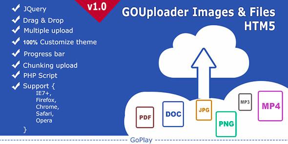 CodeCanyon GoUploader Images & Files HTML5 multiuploader 4376353