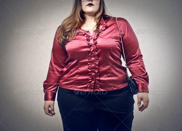 oversize woman - Stock Photo - Images