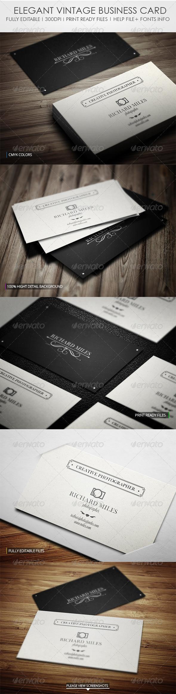 GraphicRiver Elegant Vintage Business Card 4376849