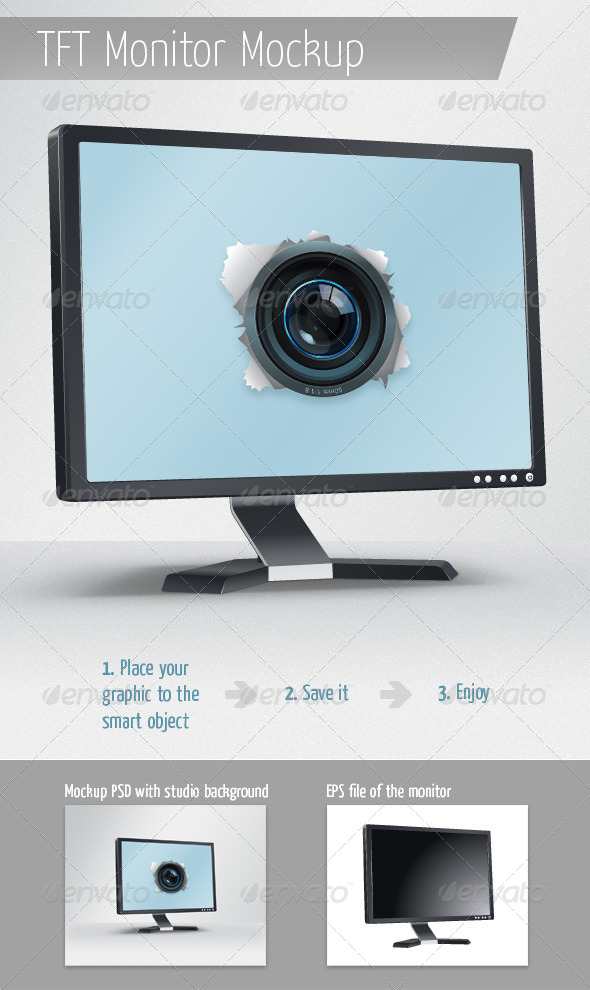 GraphicRiver TFT Monitor Mockup 4344434