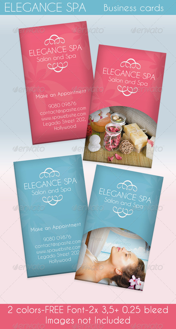 GraphicRiver Elegance Spa Card 2 Colors 4272325