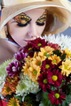 Woman with beautiful flowers - PhotoDune Item for Sale