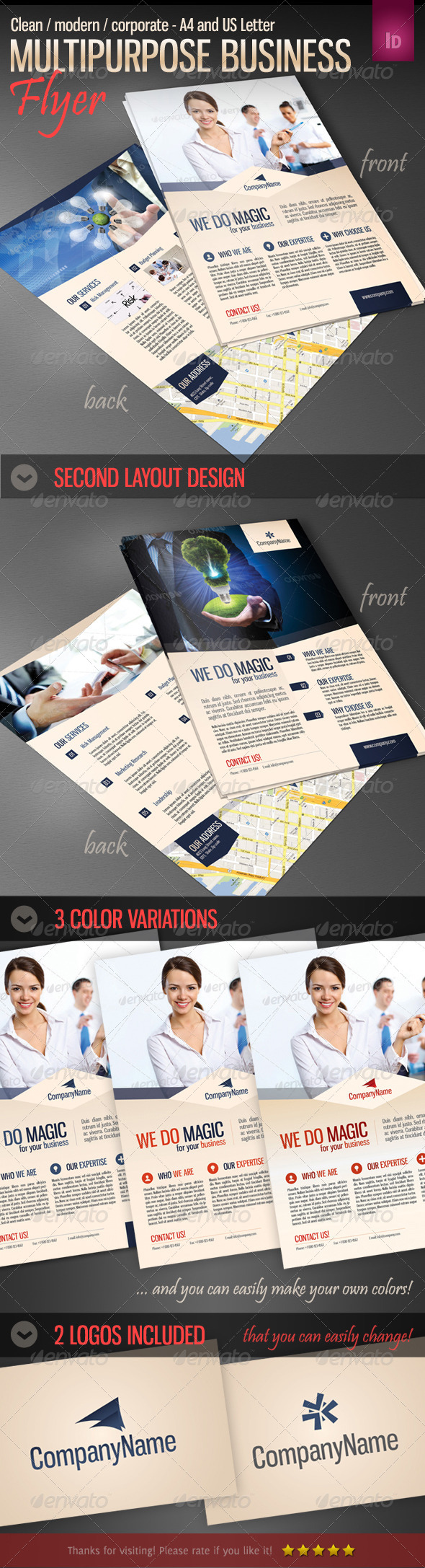 GraphicRiver Multipurpose Business Flyer Template 4377515