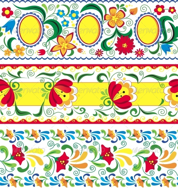 GraphicRiver Artistic Decorative Set of Seamless Line Patterns 4377623