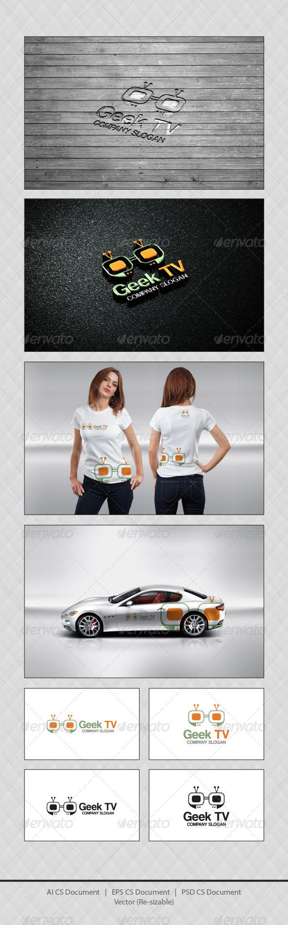 GraphicRiver Geek TV Logo Templates 4377717
