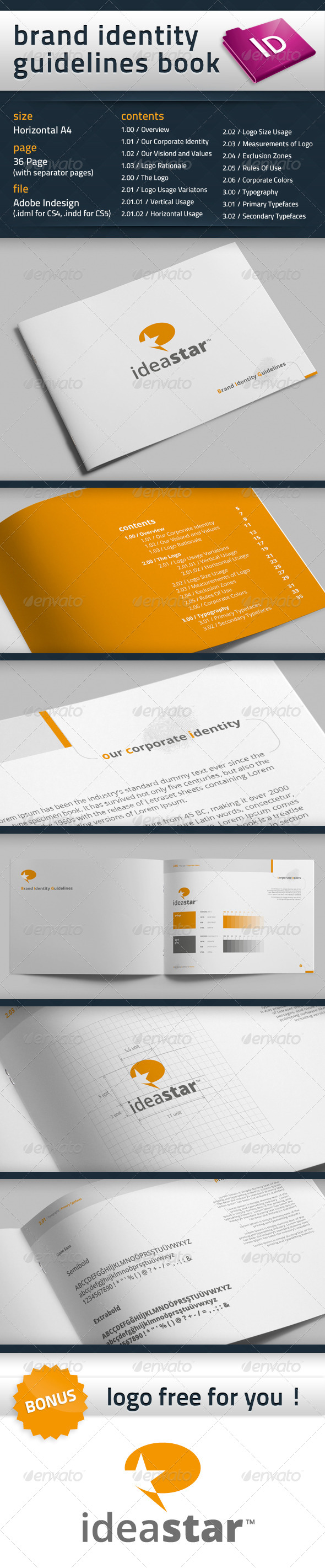 GraphicRiver Brand Identity Guidelines Book 4377923
