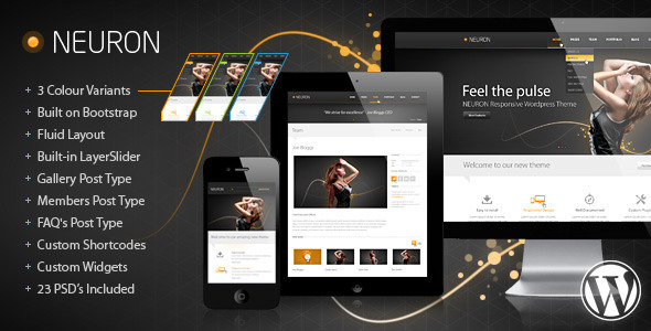 ThemeForest Neuron Responsive WordPress Theme 4350000