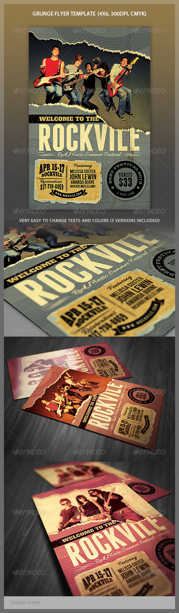 GraphicRiver Grunge Flyer Template 4378200