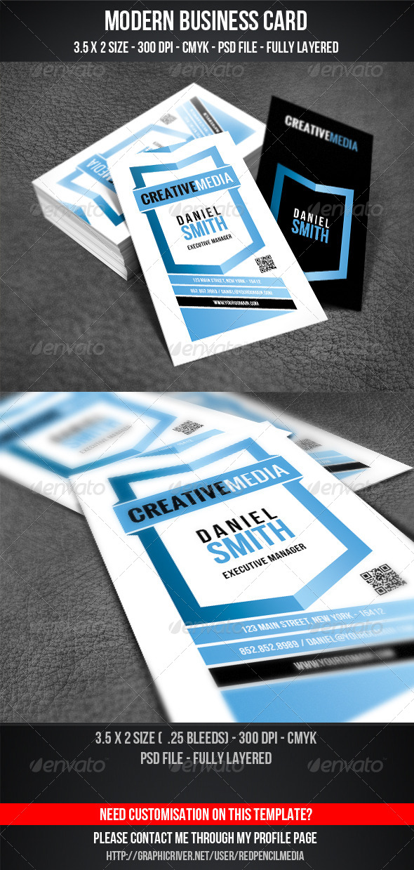 GraphicRiver Modern Business Card 4378234