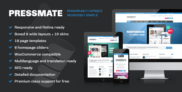 ThemeForest PressMate remarkably capable incredibly simple 4378270