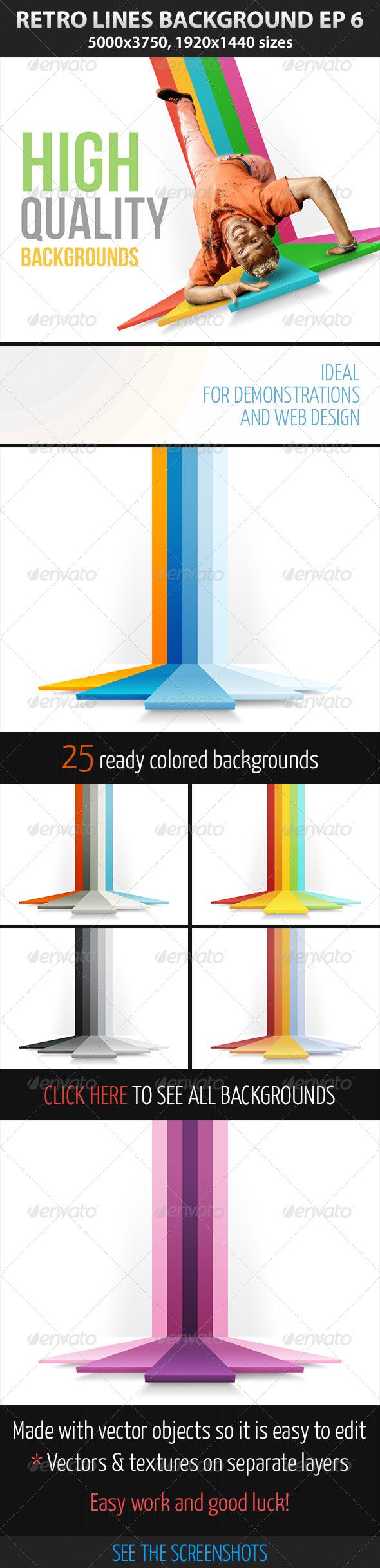 GraphicRiver Retro Lines Background ep 6 4378860
