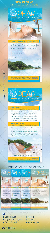 Spa Resort Rack Card Template - Commerce Flyers