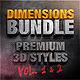 Bundle - Dimensions Premium Styles Vol. 1 & 2 - GraphicRiver Item for Sale