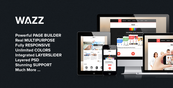 ThemeForest Wazz Responsive MultiPurpose Theme 4358016