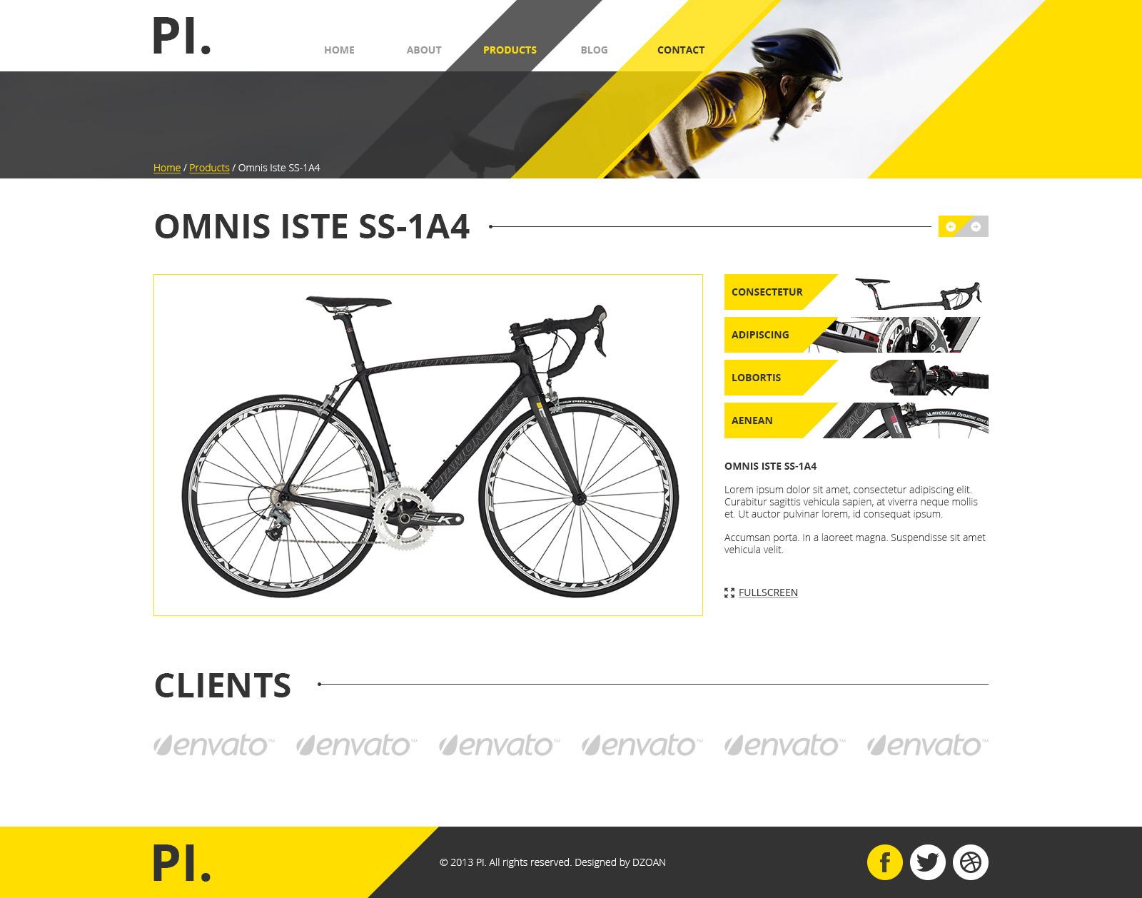 PI. - Portfolio PSD Template