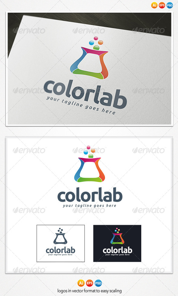 Color Lab Logo - Objects Logo Templates