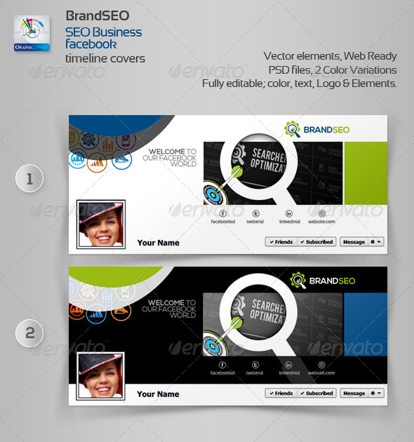 GraphicRiver BrandSEO Creative Facebook Timeline Cover 4379879