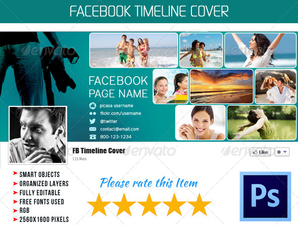 GraphicRiver Photographer FB Timeline Cover 02 4380254