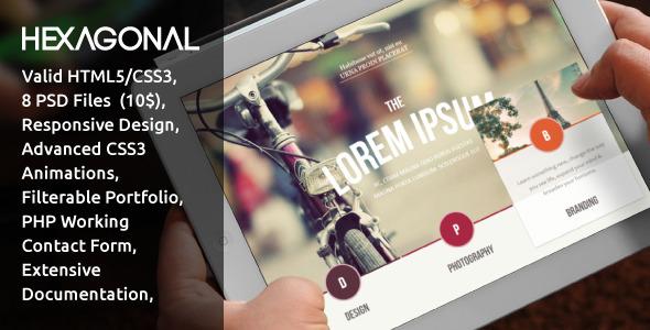 ThemeForest Hexagonal Clean Multipurpose Responsive Website 4359597