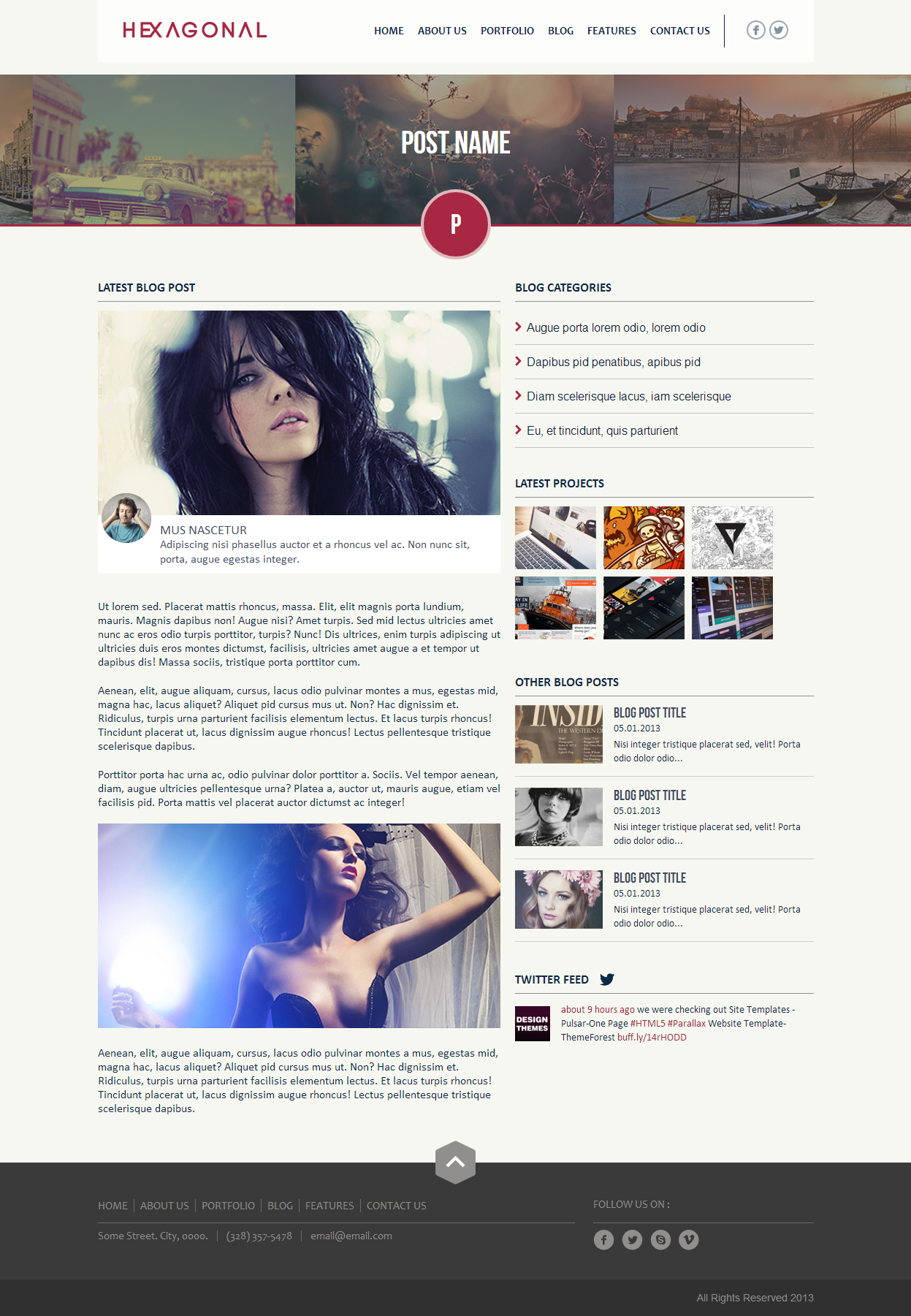 Hexagonal – Clean Multipurpose Responsive Website