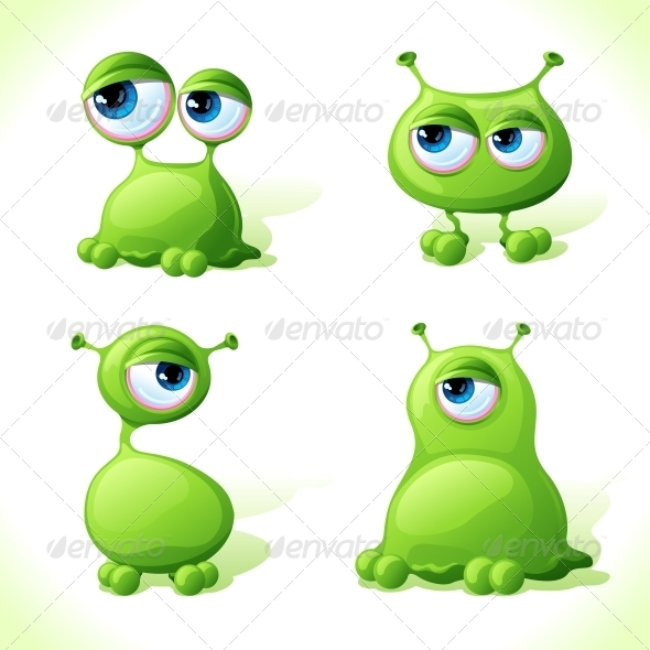 GraphicRiver Vector Green Monsters 4380307