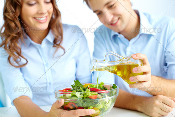 Cooking salad - Stock Photo - Images