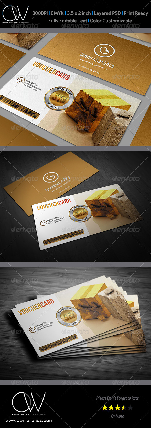 GraphicRiver Gift Voucher Card Vol.3 4380669