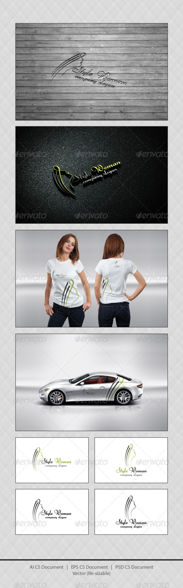 GraphicRiver Style Woman Logo Templates 4380673