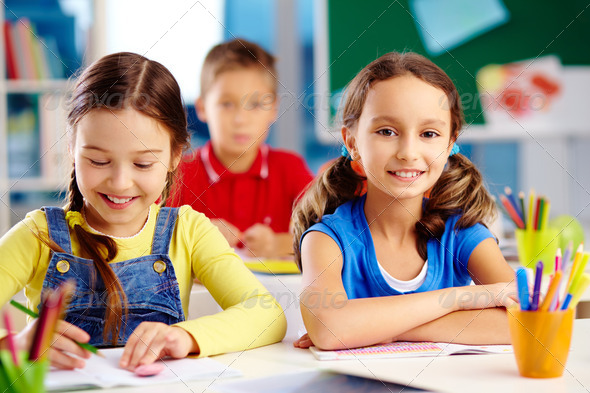 Elementary students - Stock Photo - Images