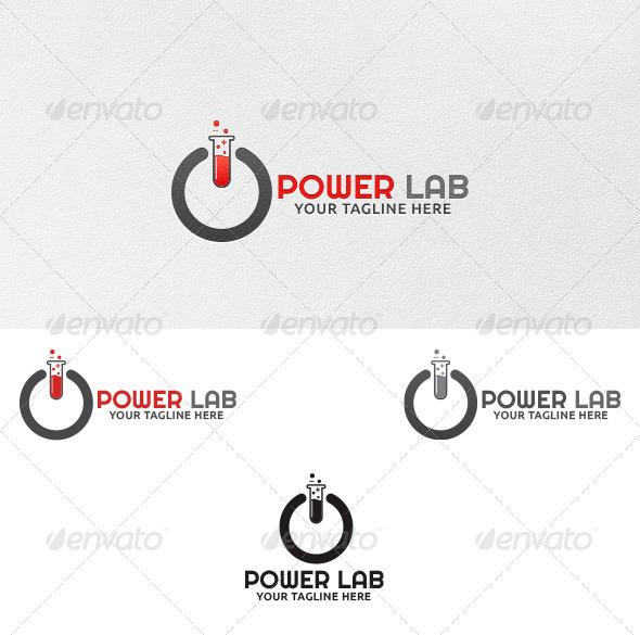 GraphicRiver Power Lab Logo Template 4380921