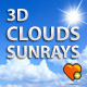 3d Moving Clouds Animation