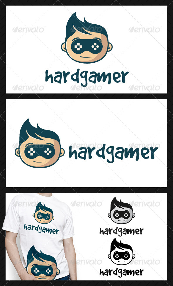 Geek Game Logo Template - Humans Logo Templates