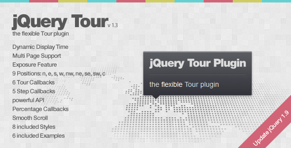 jQuery Tour - the flexible Tour plugin - CodeCanyon Item for Sale