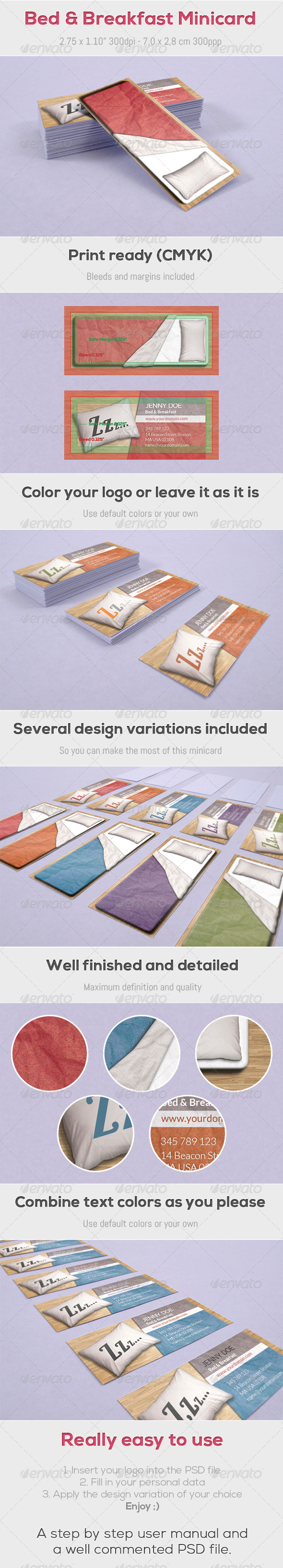GraphicRiver Bed & Breakfast Minicard 4381448
