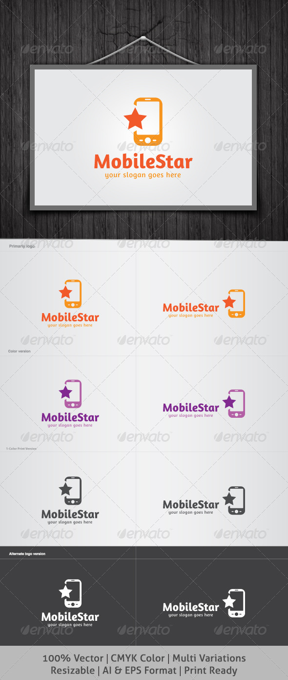 Mobile Star Logo