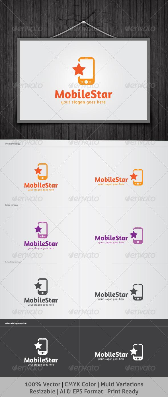 GraphicRiver Mobile Star Logo 4381479