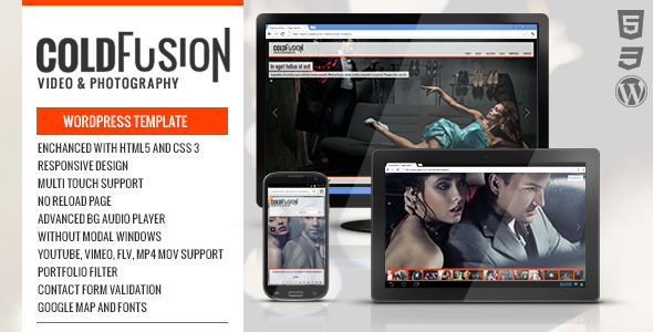 ColdFusion Responsive Fullscreen Video Image Audio
