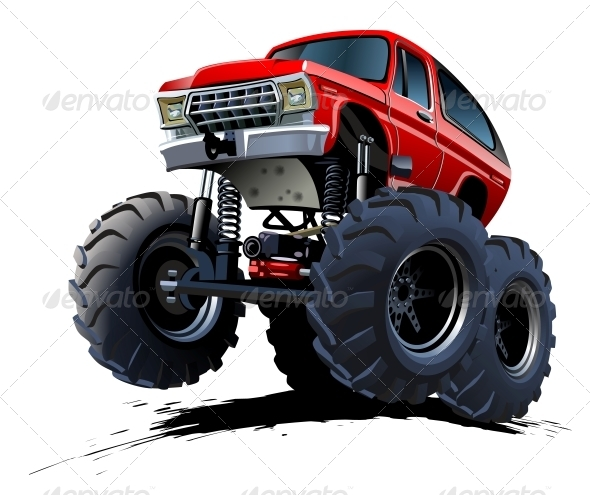 GraphicRiver Cartoon Monster Truck 4381990