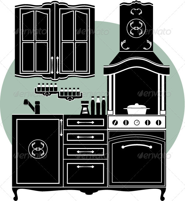 GraphicRiver Kitchens and Accessories 4381997