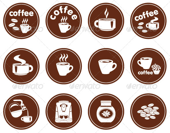 GraphicRiver Set of Coffee Icons 4382208