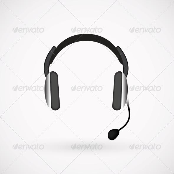 GraphicRiver Headphones Icon 4382389