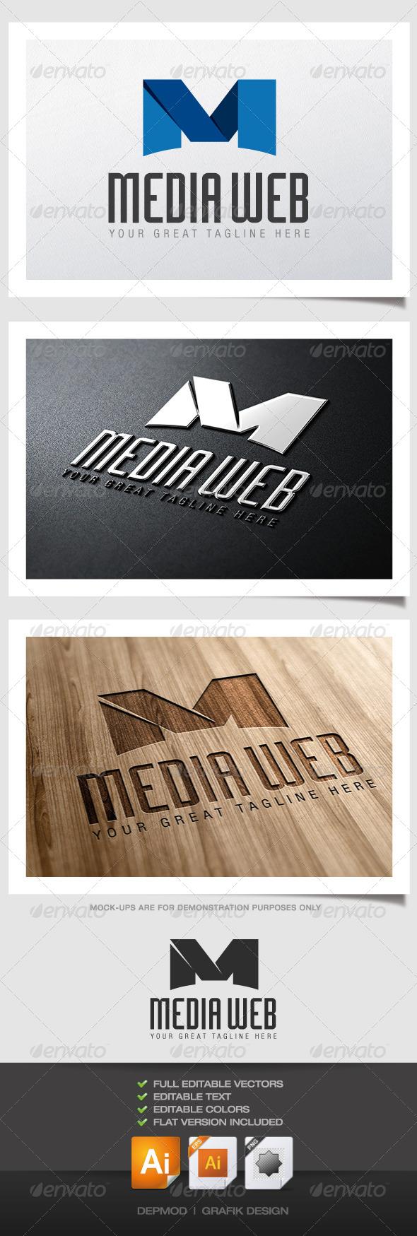 Media Web Logo - Letters Logo Templates