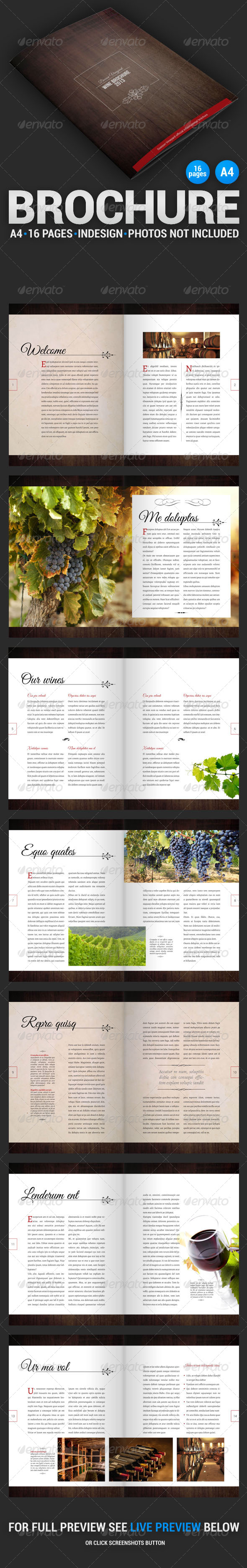 GraphicRiver Wine Brochure 16 Pages 4383005