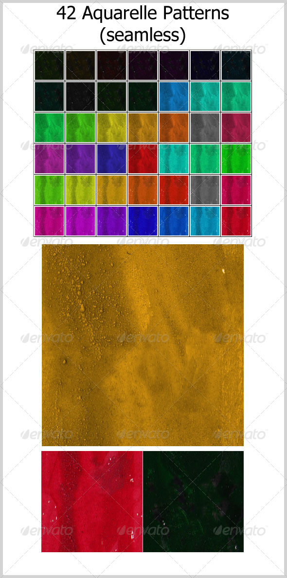 42 Aquarelle Patterns (seamless) - Textures / Fills / Patterns Photoshop
