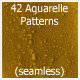 42 Aquarelle Patterns (seamless)