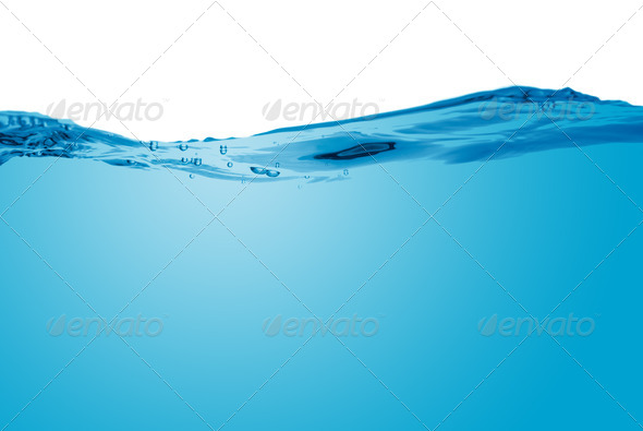 Blue water wave - Stock Photo - Images