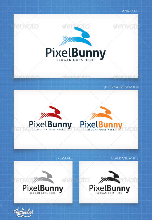GraphicRiver PixelBunny Logo Template 4383955