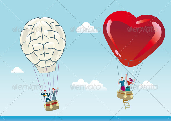 GraphicRiver Reason and Emotion Balloons 4384036